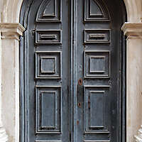 ornate wood door from venice 4