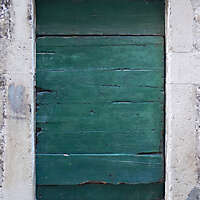 ruined paint old door green