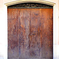 very ruined wood door 3