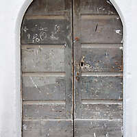ancient very old rustic damaged door 12