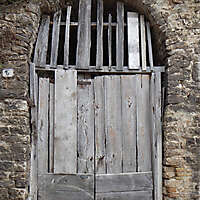 ancient very old rustic damaged door 3