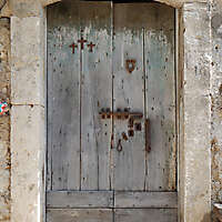 ancient very old rustic damaged door 7