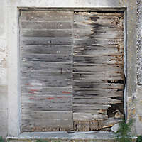 destroyed wood old door 7