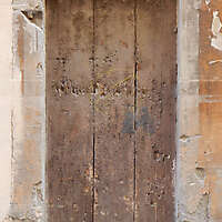old ruined wood door 2