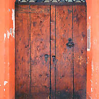 old scraped wood door 7