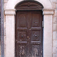 scraped paint old medieval door 3