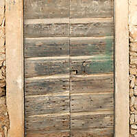 very old ruined door 8