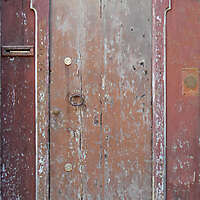 very ruined wood door 1