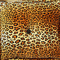 leopard fabric pillow