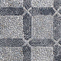 black and white pebbles greek mosaic seamless 3