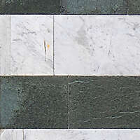 white and green marble