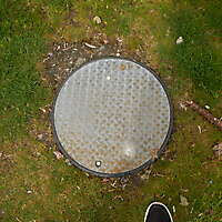Galvanized round manhole 2