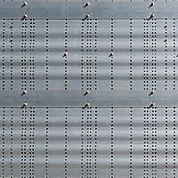 seamless metal panel with holes