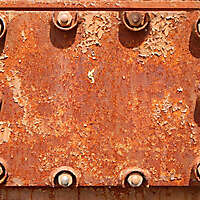 rusty bolted panel