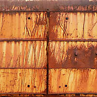 rusty metal panels
