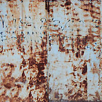 rusty paint garage door