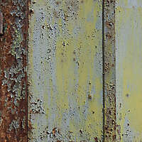 rusty panel with scraped paint