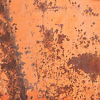 rusty yellow paint