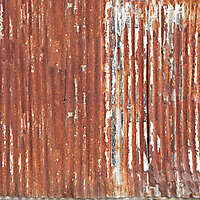 undulating rusty iron panel 2