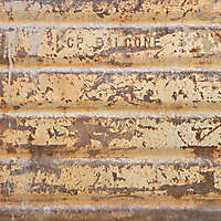 very rusty metal paint box 2