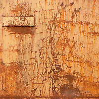 yellow paint rusty metal