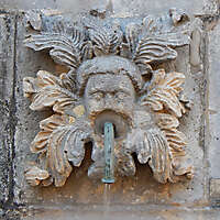 medieval fountain stone decoration 7
