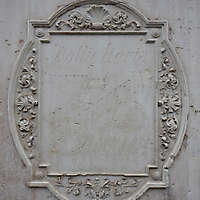 old ornate stone plate big