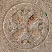 stone cross ornament 70