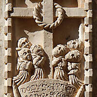 stone cross ornament 72