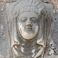stone ornament face