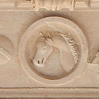 stone ornament horse seamless