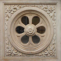stone rosone window ornament 1