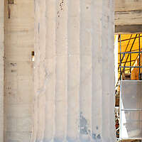 greek pillar white stone 2