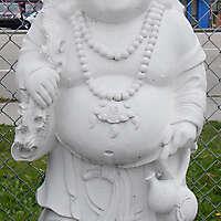 buddha statue white chalk
