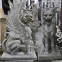 lion with wings statue