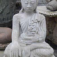 stone grey dwelling Buddha  1