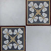 old tiles with flowers