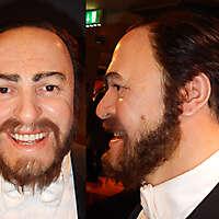 Luciano Pavarotti face texture