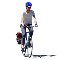 man on bike png