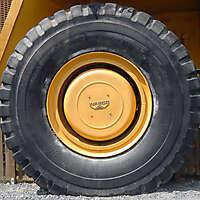 big dump truck wheel