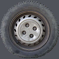 dirt rubber tire