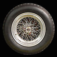 old ferrari car wheel and tyre 2