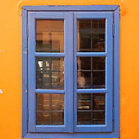 greek window blue