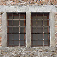 medieval double window