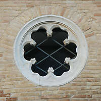 old medieval flower window 1
