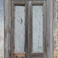 very old wood window frame