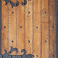 old planks with medieval metal hinges 2