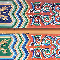 chinese painted planks ornaments