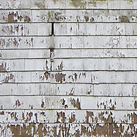 old and scraped paint shingles