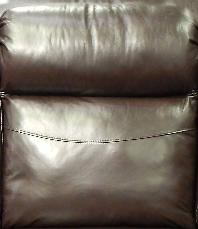 Texture Dark Brown Leather Backrest Pillow 5 Leather